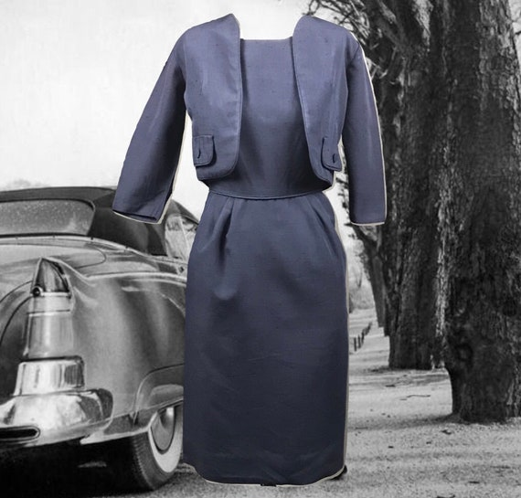 Vintage 1950s Sheath Dress with Matching Bolero Te