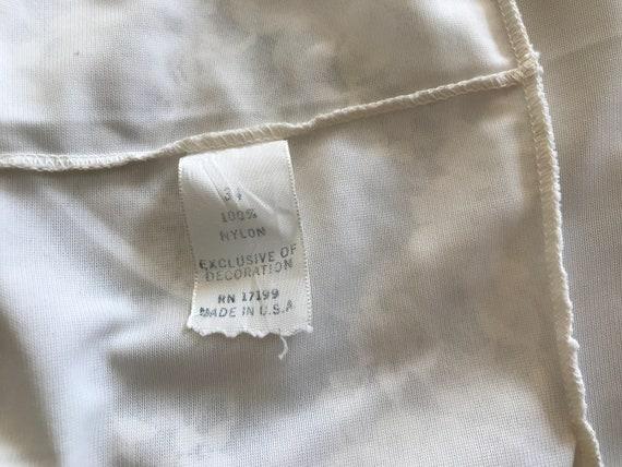 Vintage Full Slip Lingerie Ladies White Nylon Sli… - image 10