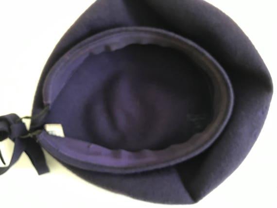 Vintage Wool Tam Wool Beret 1940s New York Creati… - image 7