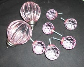 Reserved for Deb 8 Pieces Solid Pink Acrylic Knobs Drawer Pulls 106 Things to Alter 8 vtg yellow playing cards 23 chalkboard tagss