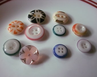 """VINTAGE CZECHOSLOVAKIA BUTTON 1.5/"""" HAND PRESSED GLASS Pink Shimmer 1 pc"""