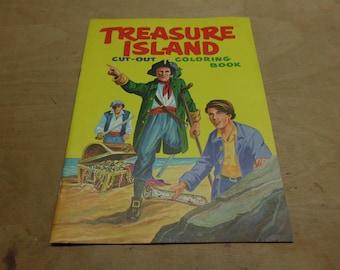 Vintage 1968 Quaker Oats Promotional Coloring Book Treasure island