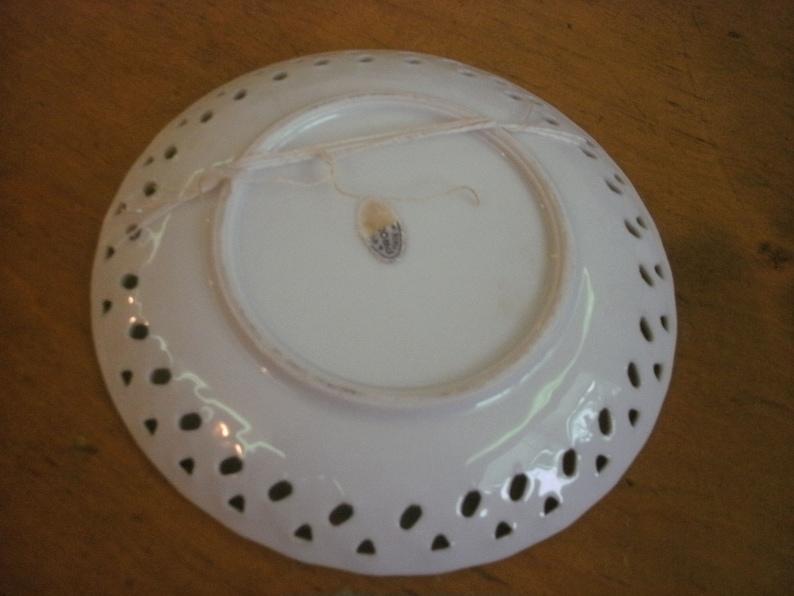Vintage Ceramic Trinket Dish PiercedGrand Coulee Dam Washington State 6 Diameter