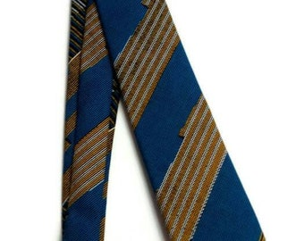 Mens Blue Kente African Tie With Matching Pocket Square And Storage Pouch, Birthday Gift