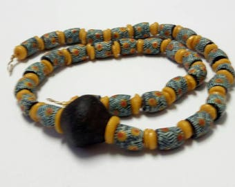 African Gift For Him| Festival Bead Bracelet And Necklace| Traditional Marriage Beads| African Engagement Gift For Groom| First Time Dad Tie