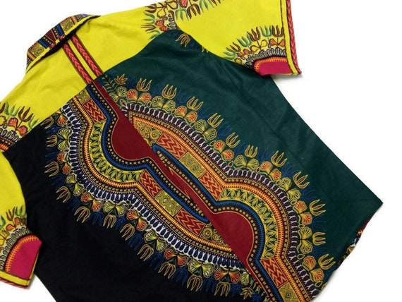 African Chest 19 Size Size Inch Shirt Men's Festival Neck 52 Clothing Shirt Dashiki Mens Plus AwRfq