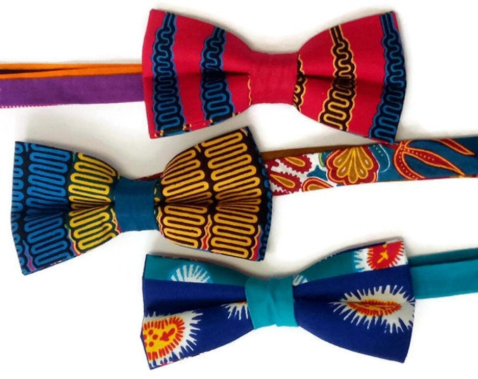 Three Bowties For The Price Of Two, Dashiki Bowties For Friends And Family