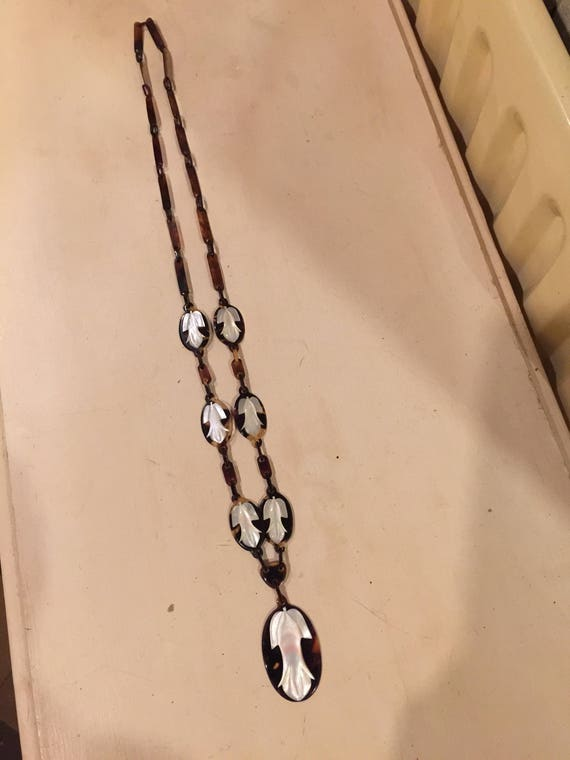 Celluloid jewelry set