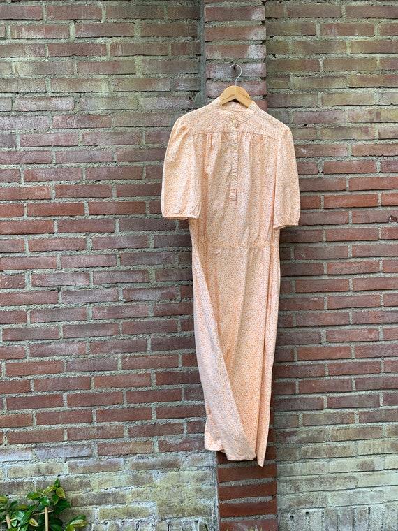 Orange Laura Ashley vintage dress