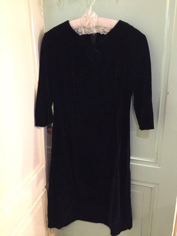 Vintage velvet 60s dress