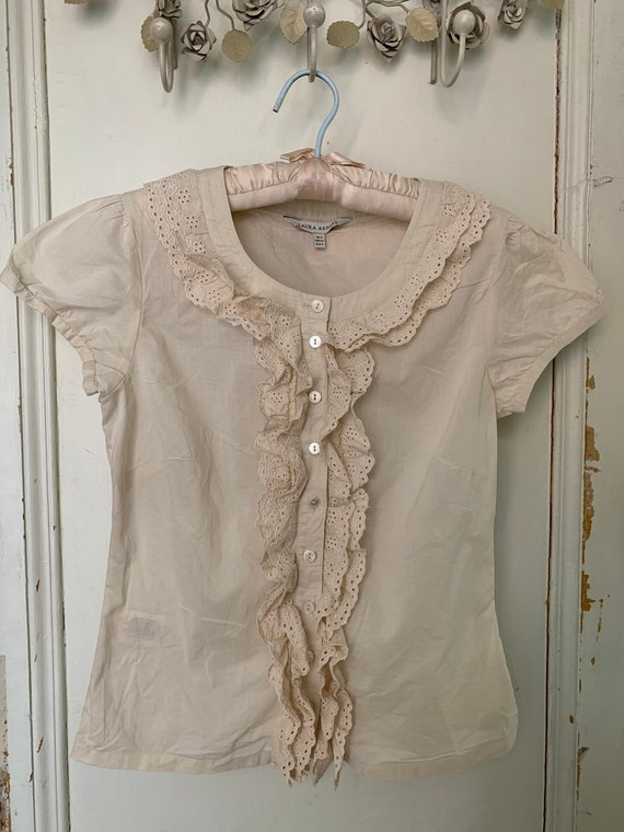 Vintage ruffle blouse by Laura Ashley