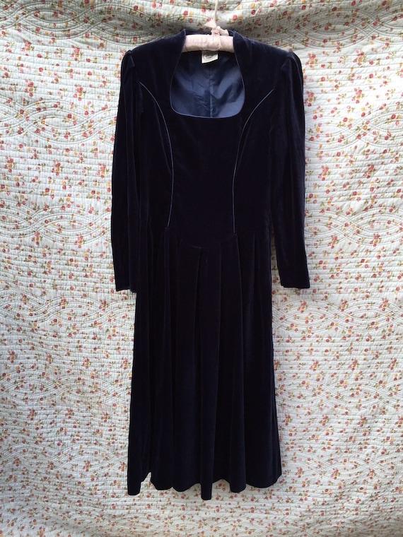 Vintage velvet Laura Ashley dress