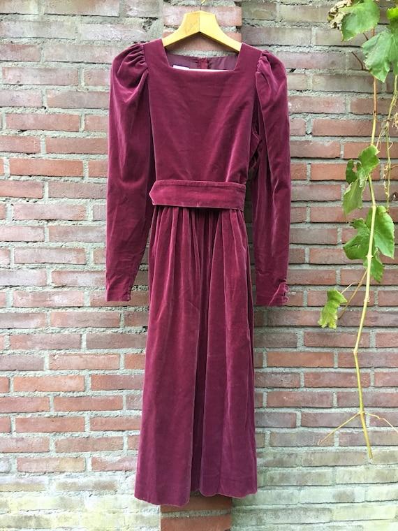 Laura Ashley vintage velvet dress