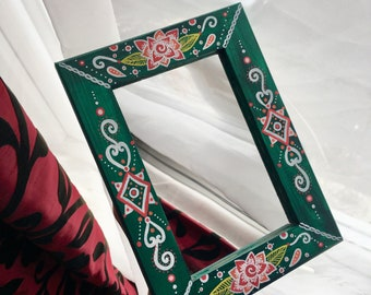 Small hand painted mirror