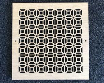 """3/4"""" thick white oak veneer decorative vent cover"""