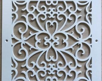 Matte white, Erebia pattern decorative vent cover