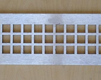 Decorative vent covers, HVAC register, Brushed Aluminum
