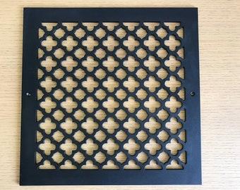 Black, Belfast pattern decorative vent cover