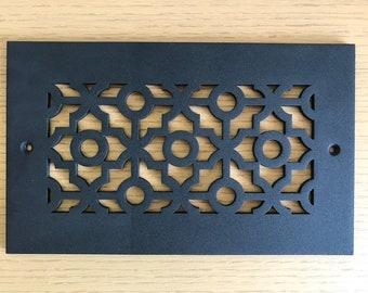 Black, Cusick pattern decorative vent cover
