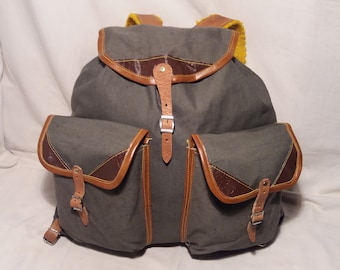 Vintage 1980 s Military Green Canvas Backpack - NEW fd39d53074