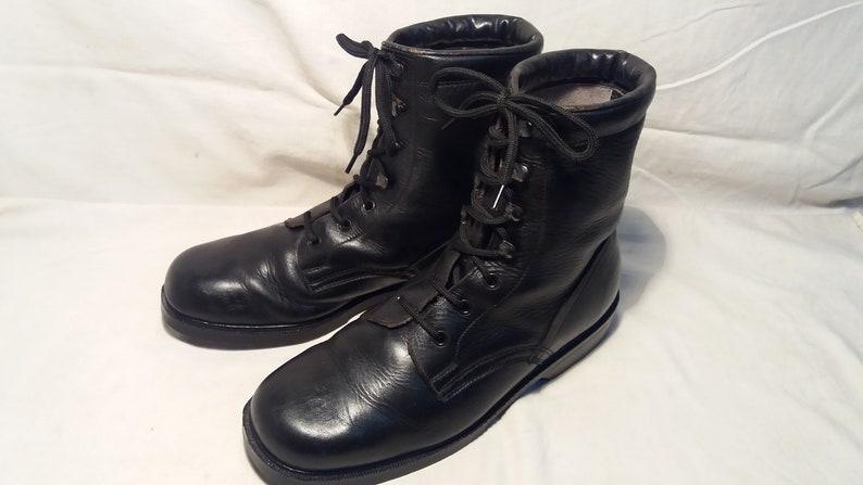 Schwarze Lederstiefel 1980 Armee Jahrgang Bulgarischen pzSqUMV