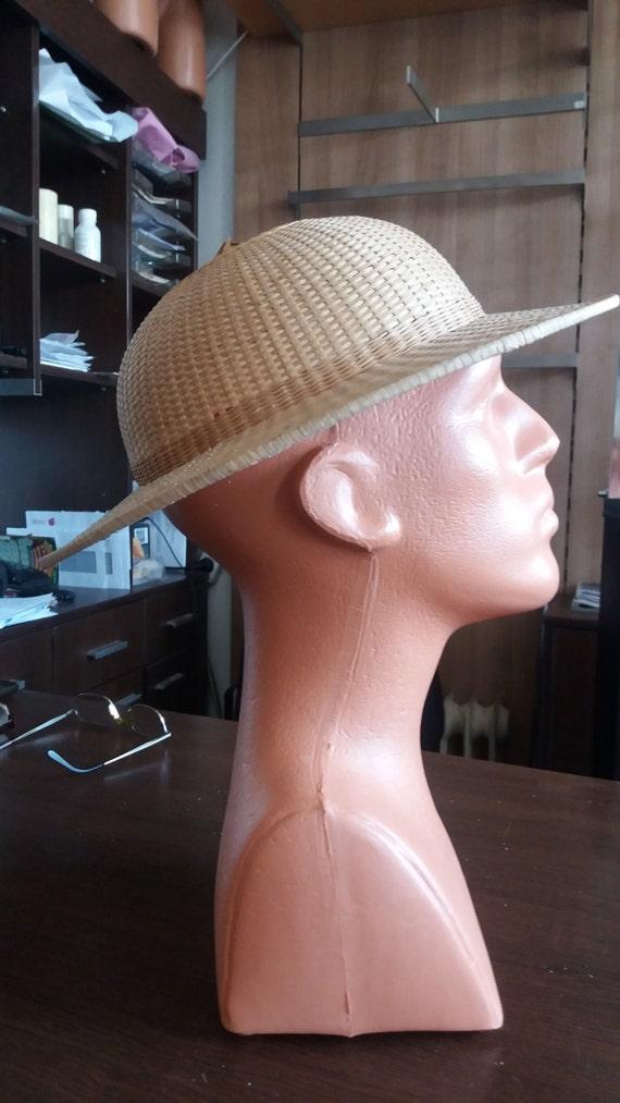 Vintage Handmade Straw Cap - NEW - image 4
