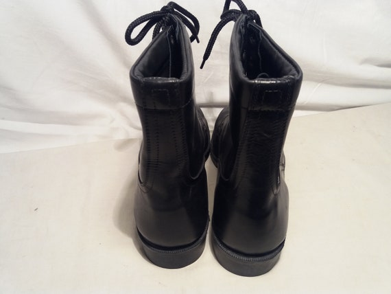 Vintage 1980's Bulgarian Army Black Leather Boots… - image 3