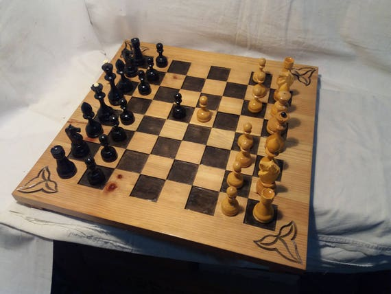 Brand New Hand Crafted Classic Wooden Chess Set 50cm x 50cm