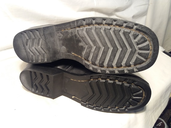 Vintage 1980's Bulgarian Army Black Leather Boots… - image 5