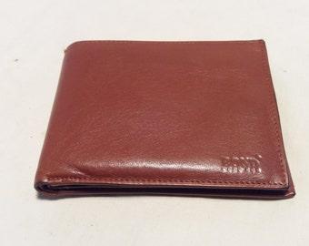 Vintage Brown Leather Men's Wallet.Brand:BOND