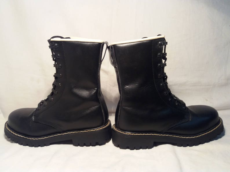 28efa9091ab14 Vintage German Army Black Leather Boots - NEW