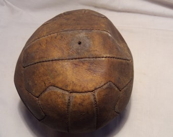 Vintage Brown Leather Soccer Ball