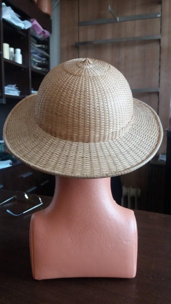 Vintage Handmade Straw Cap - NEW - image 3