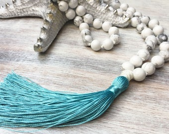 Tassel necklace- bohemian jewelry- long tassel necklace- bohemian necklace- beaded necklace- hippie necklace- gift for her- necklace