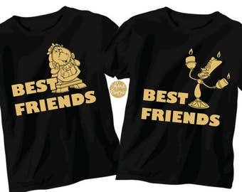 3c8f371cae Beauty and the Beast Lumiere and Cogsworth Best Friends - Magical Shirt