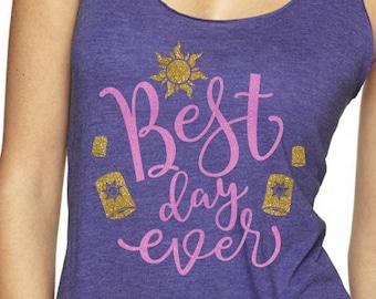 Best Day Ever Tangled Glitter Shirt - Magical Glitter Shirt