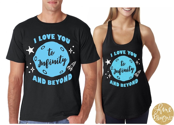 Personalized Infinity Love You Beyond T-Shirt Adult Shirt Top Men and Women