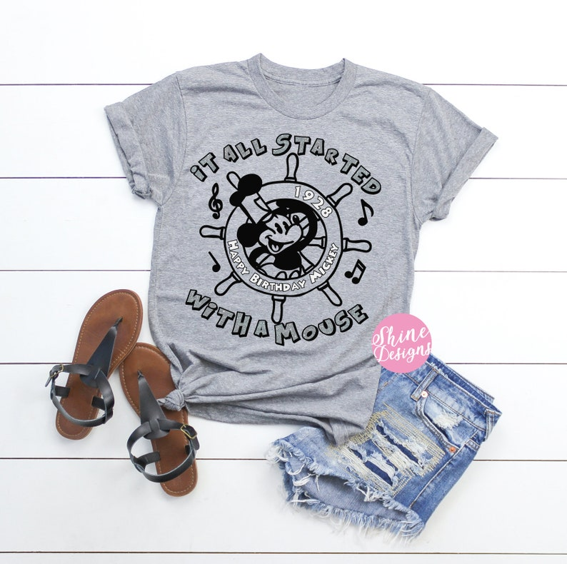 It All Started With A Mouse Steamboat Willie Shirt