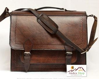 SALE 10% OFF* Genuine Leather Convertible Briefcase - Backpack (2 in 1), Leather Backpack, Leather Satchel, Shoulder bag, Vintage