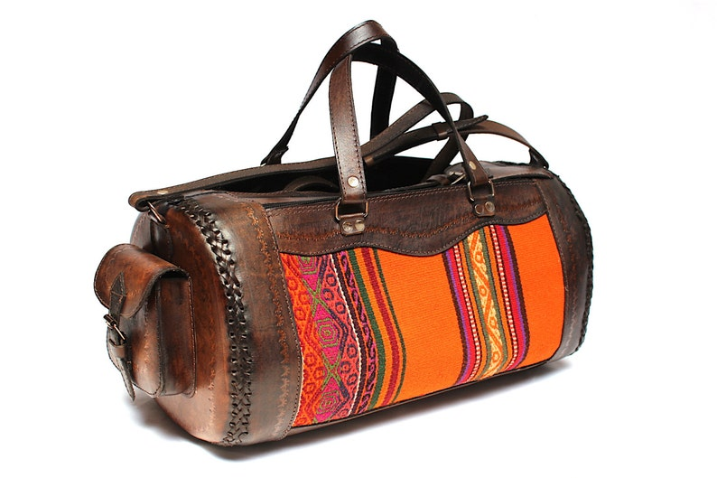 SALE 20% OFF Genuine Leather Travel Bag Leather Bag Leather image 0