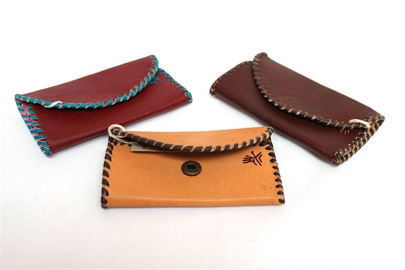 SALE 15% OFF Genuine Llama Leather Key Holder Hand Painted image 0