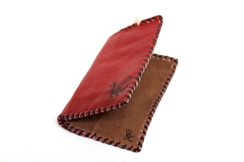 SALE 20% OFF Genuine Llama Leather Card Holder Wallet Hand image 0