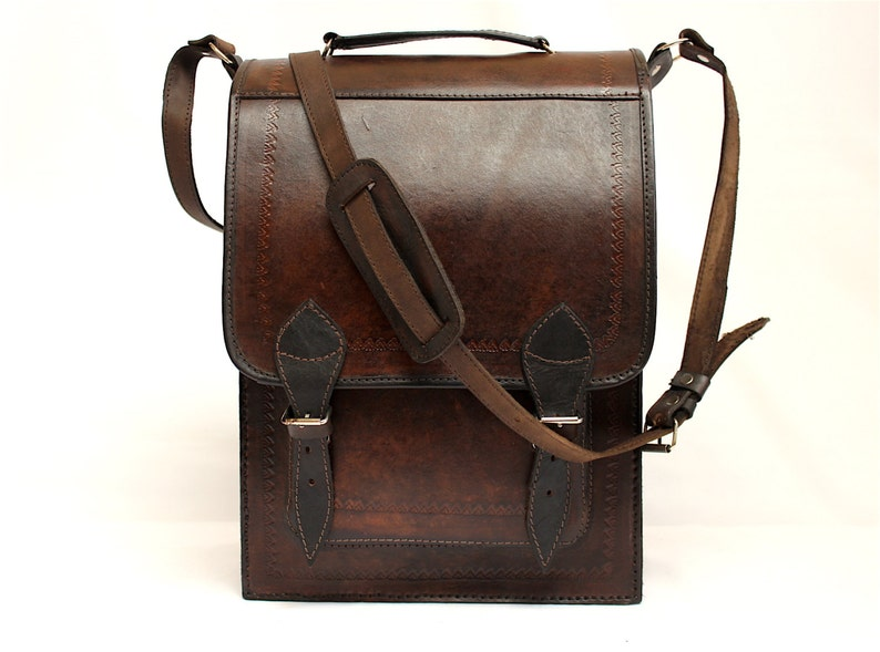 SALE 20% OFF Genuine Leather Briefcase Leather Messenger image 0