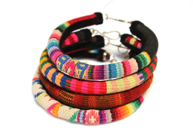 SALE 20% Off SET of 4 Premium BOHO Andean Colorful Bracelets image 0