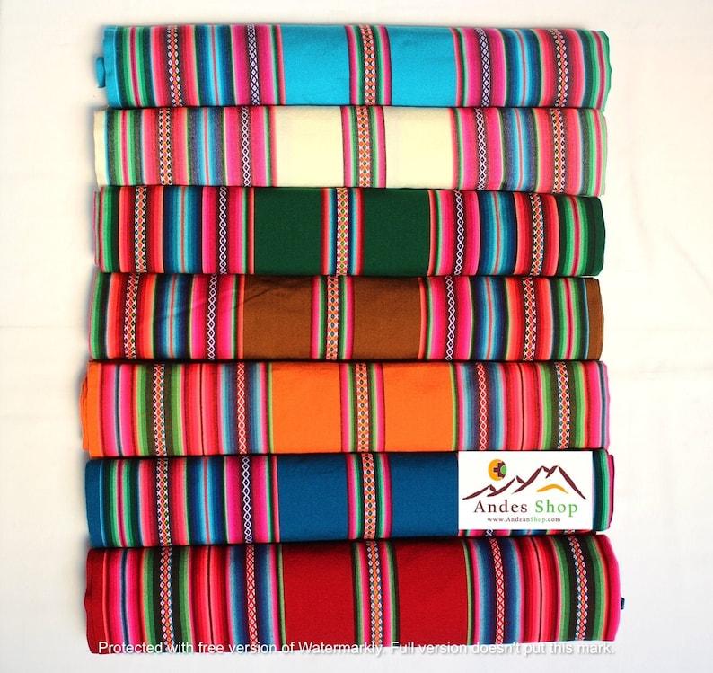 SALE 10% OFF Premium Genuine Aguayo Bolivian Peruvian fabric image 0