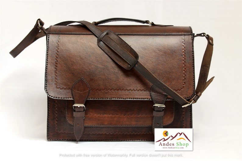 SALE 10% OFF Genuine Leather Convertible Briefcase  Backpack image 0