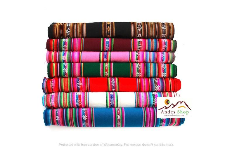 SALE 10% OFF Genuine Aguayo Bolivian Peruvian fabric image 0