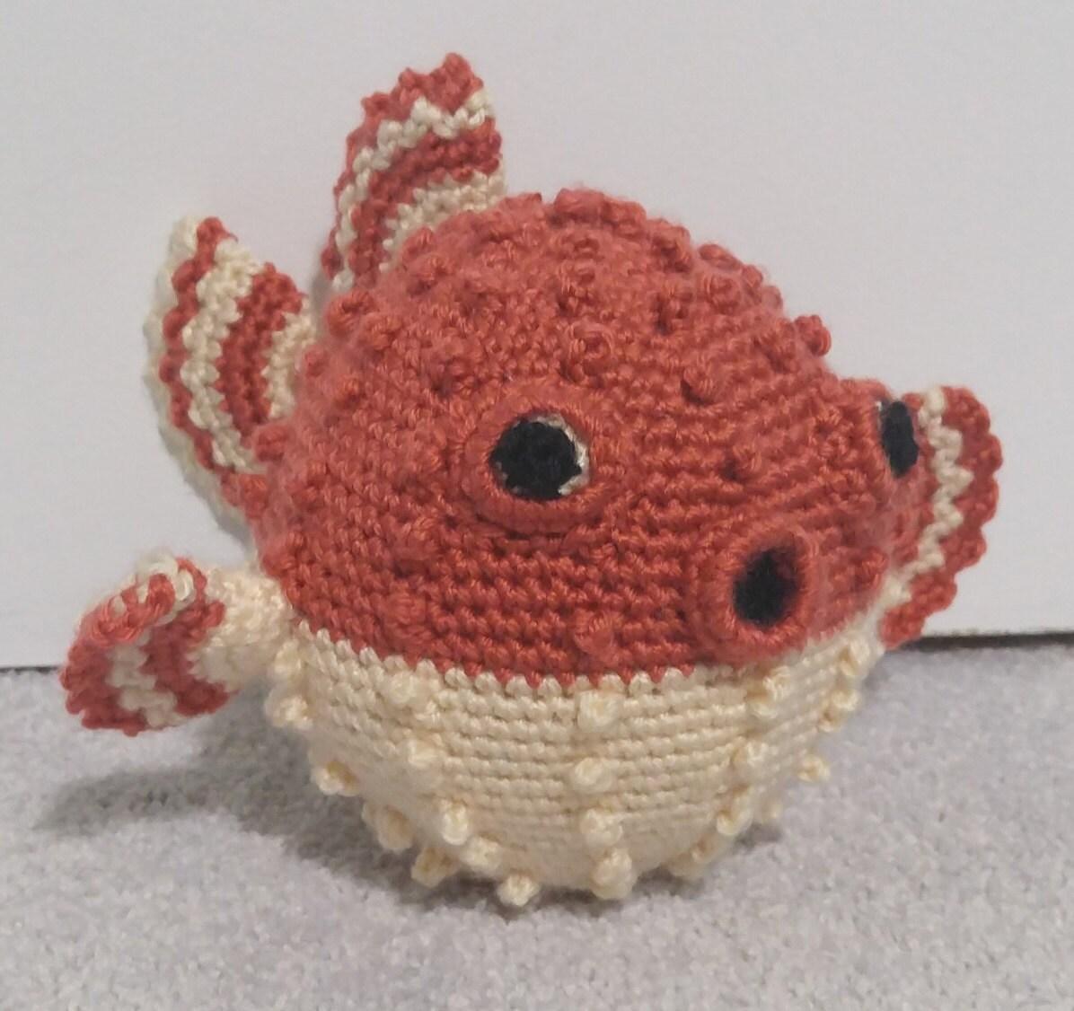 Crochet Puffer Fish. Handmade Crochet Animals. Amigurumi