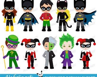 Clipart Superhero ,Digital Clipart, Superhero Clipart, Superhero Clip Art, Hero Clipart, Batman Clipart, Batman Clip Art.
