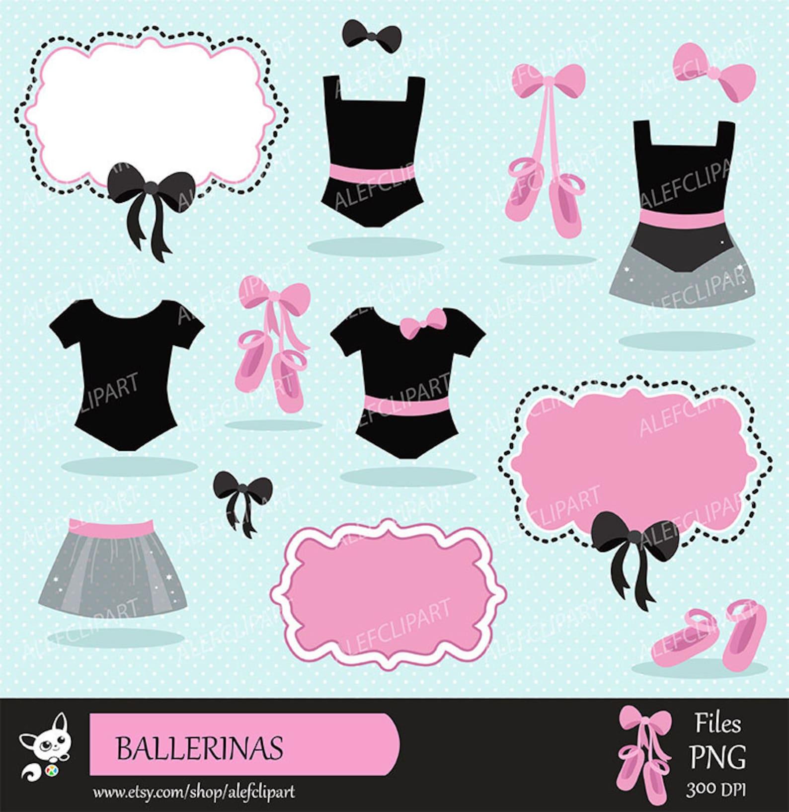 ballet - digital clipart set, ballerina clipart, ballet clipart, tutu clipart, ballet slippers.